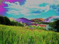 Blick auf den Tegernsee mit Fährhütte