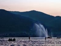 Wasserfontäne zum Seefest Tegernsee
