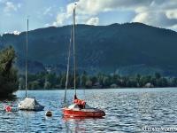 Segelboot am Tegernsee