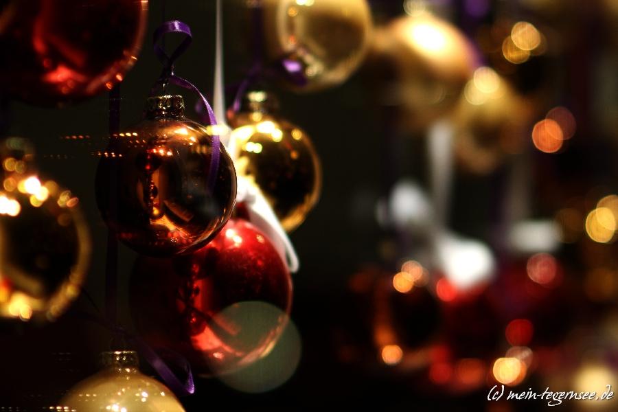 Weihnachtliche Dekoration in Rottach-Egern am Tegernsee