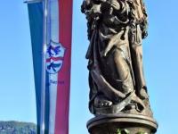 Marienplatz Rottach-Egern am Tegernsee.