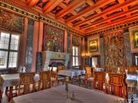 Der große Saal auf Schloss Ringberg am Tegernsee