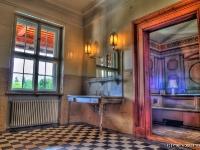 Blick vom Bad ins herzogliche Schlafzimmer