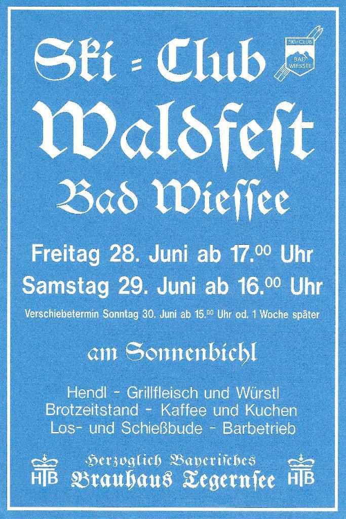 Waldfest SC Bad Wiessee 2013
