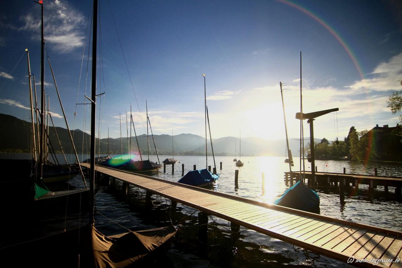 Segelboote beim Yacht-Club Tegernsee