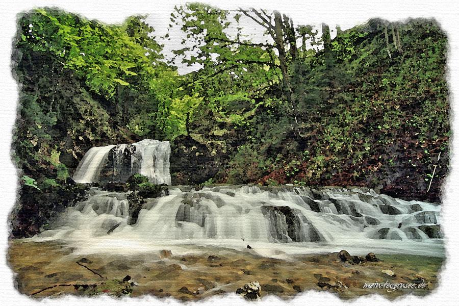 Die Josefsthaler Wasserfälle in Schliersee / Neuhaus.