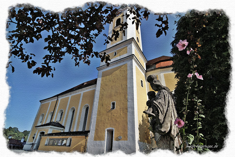 Die kath. Stadtpfarrkirche Mariä Himmelfahrt Miesbach