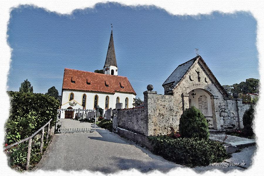 Die Kirche St. Georg in Otterfing.