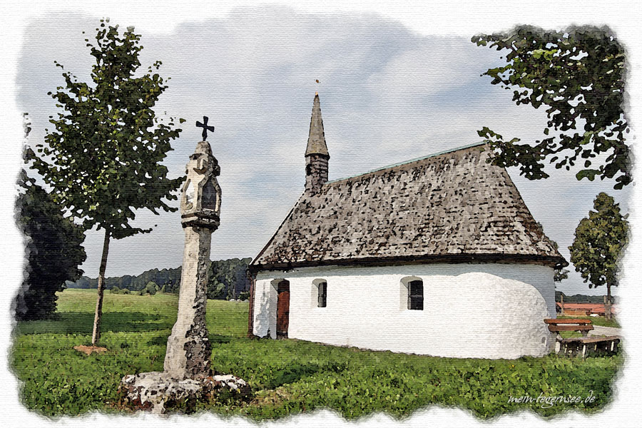 Kapelle und Bildstock im Ortsteil Palnkam.