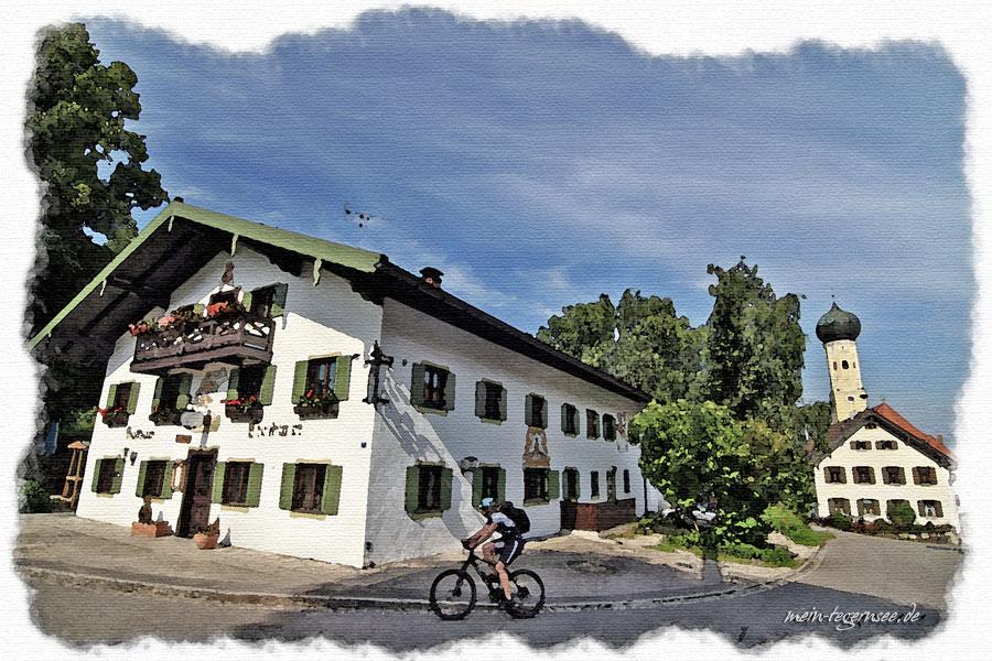 Gasthaus Christlwirt in der Ortsmitte von Waakirchen.