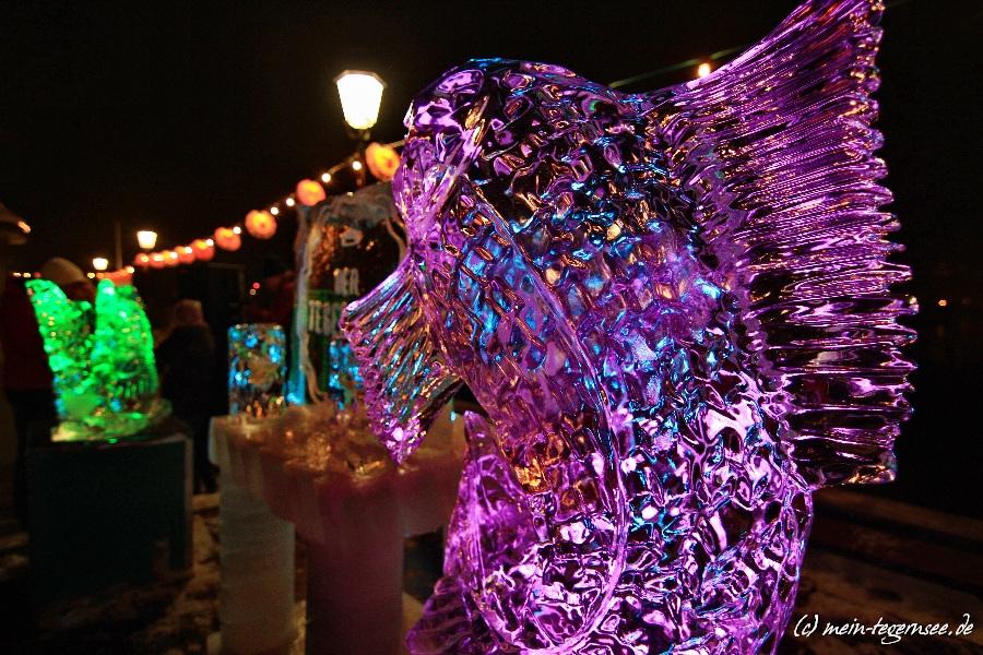 Eisskulptur Winterseefest Rottach-Egern - Fisch