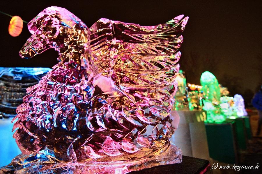 Eisskulptur Winterseefest Rottach-Egern - Schwan