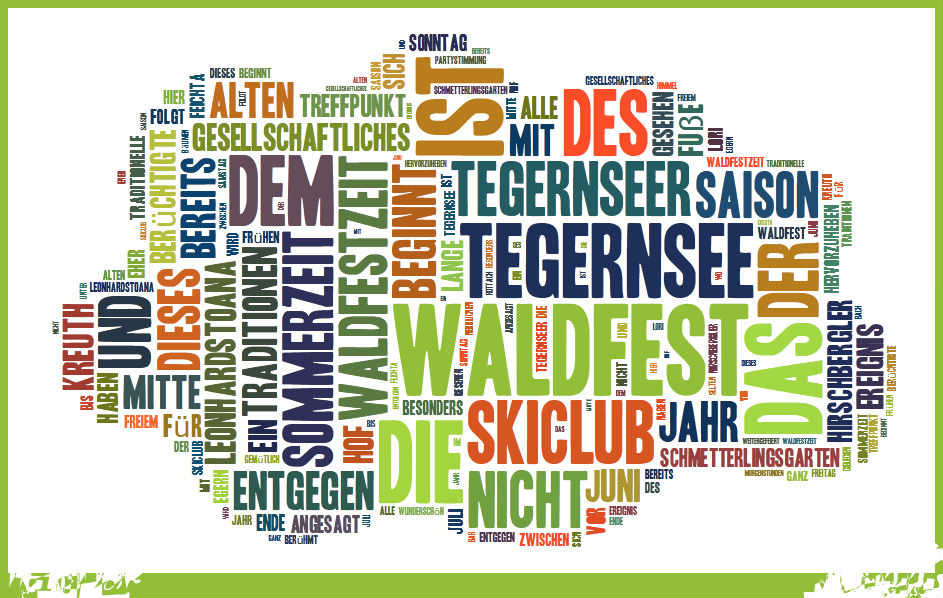 Tag-Cloud Waldfeste
