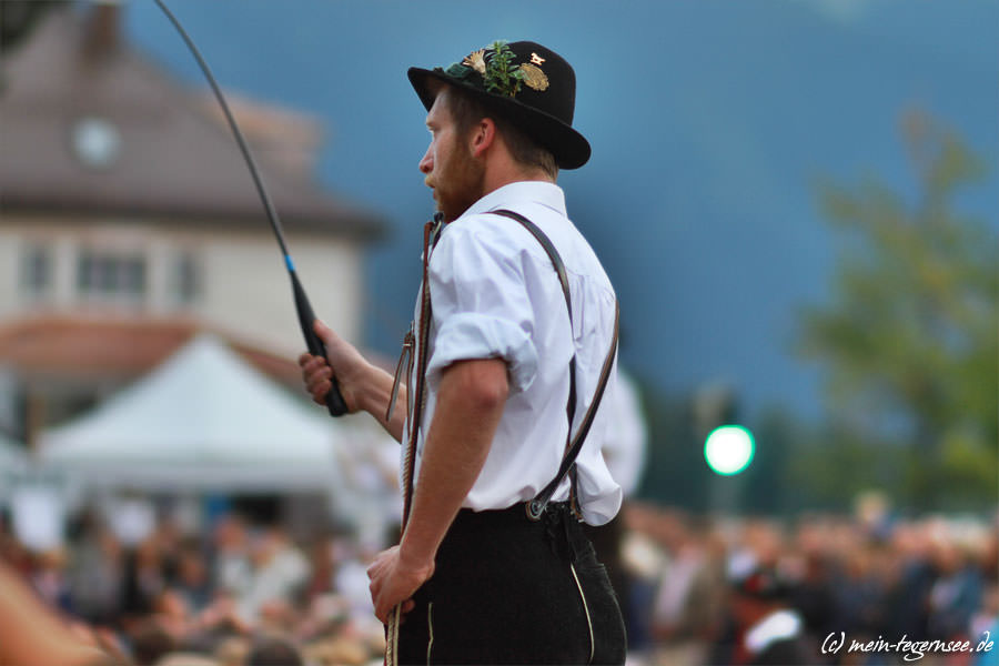 Auftritt der Goaßlschnalzer zum Seefest.