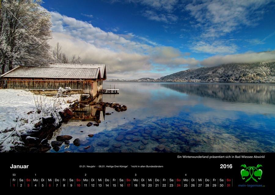 Tegernsee Kalender 2016 - Januar