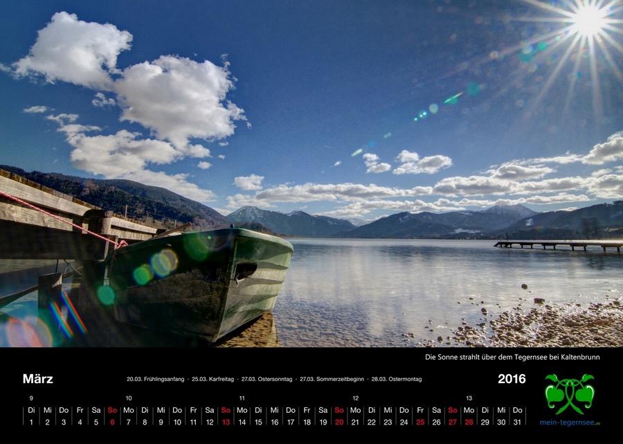Tegernsee Kalender 2016 - März