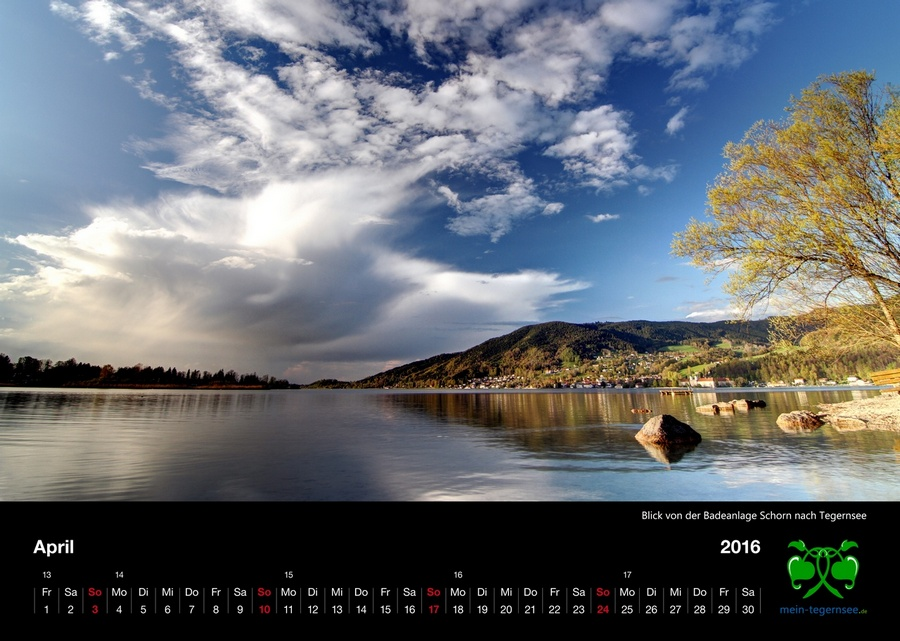 Tegernsee Kalender 2016 - April
