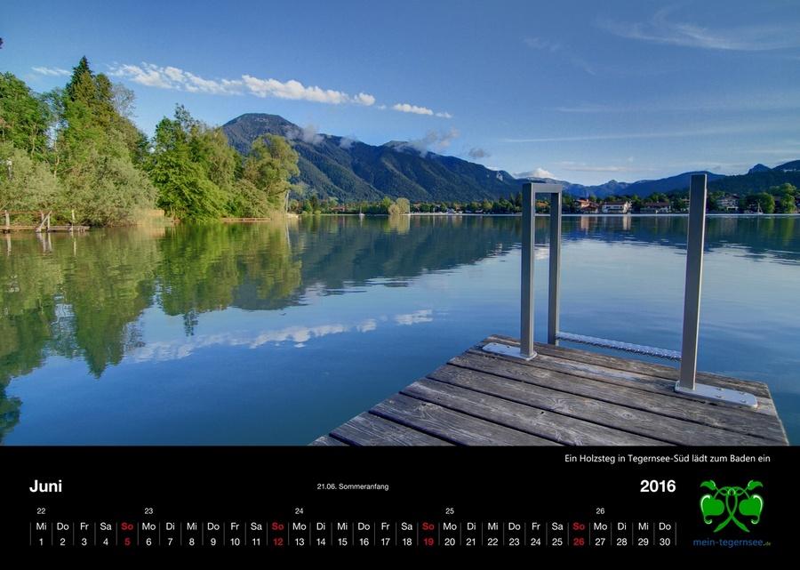 Tegernsee Kalender 2016 - Juni
