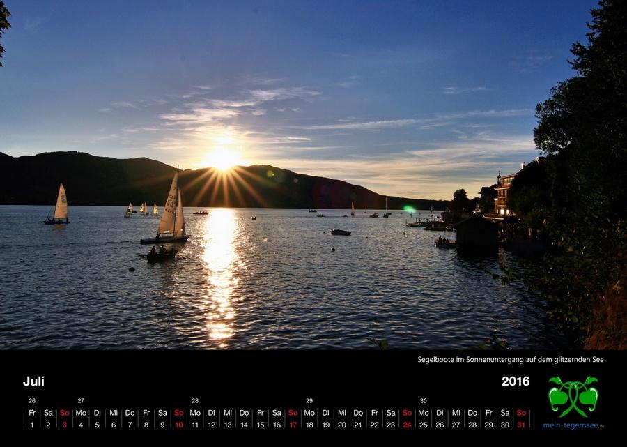 Tegernsee Kalender 2016 - Juli