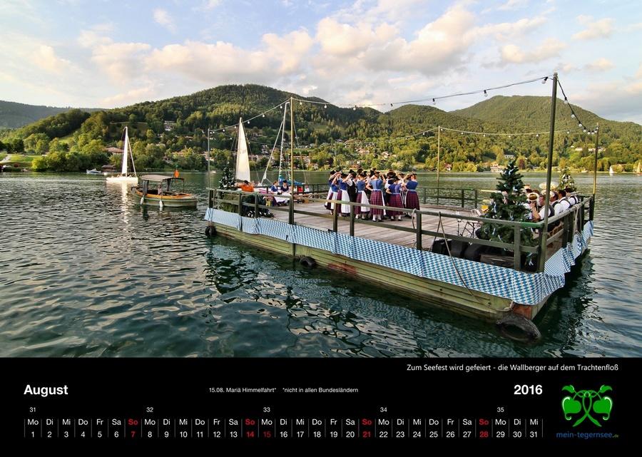 Tegernsee Kalender 2016 - August