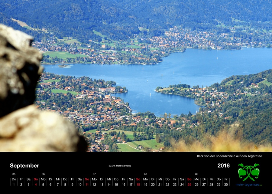 Tegernsee Kalender 2016 - September