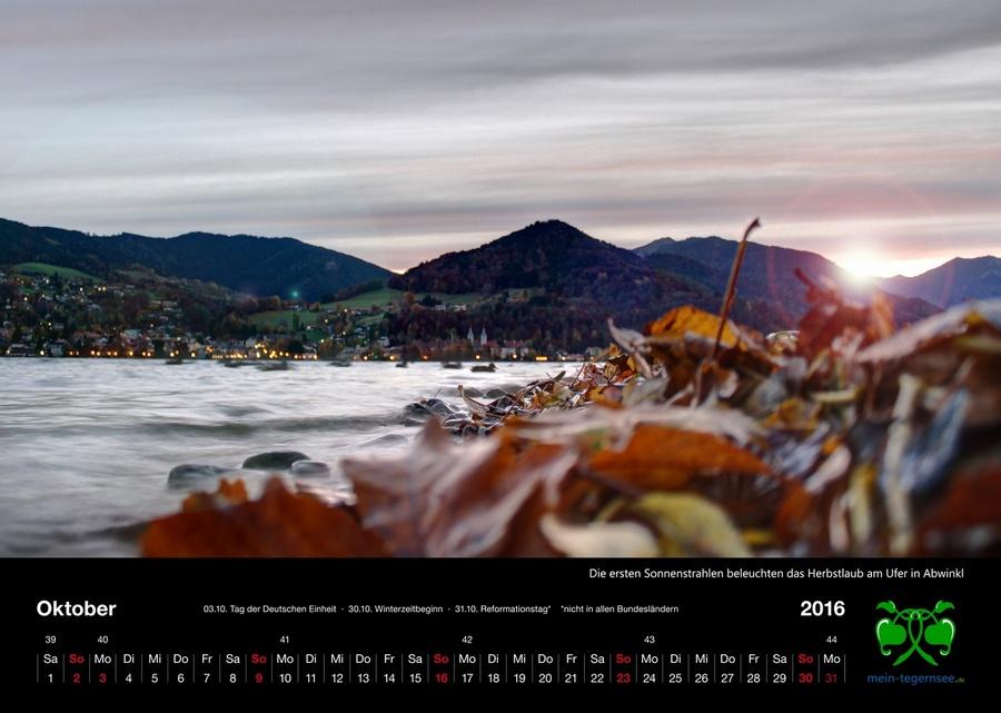 Tegernsee Kalender 2016 - Oktober