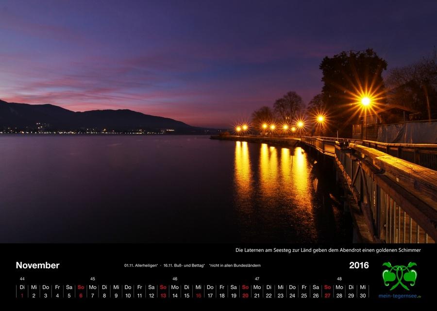 Tegernsee Kalender 2016 - November