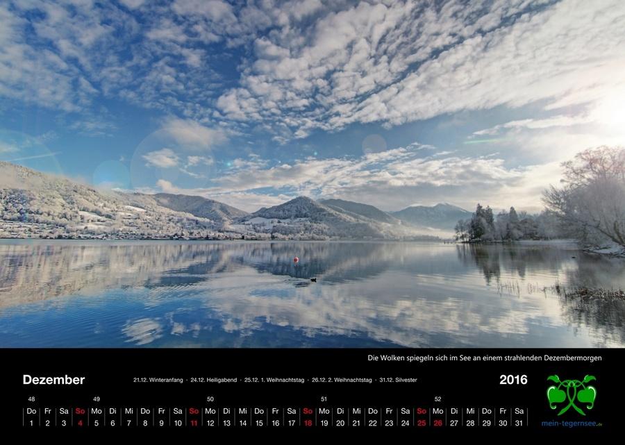 Tegernsee Kalender 2016 - Dezember