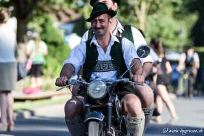 Historische Motorräder beim Rottacher Seefest