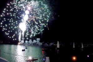 Feuerwerke der Seefeste am Tegernsee