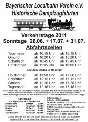 Dampfzugfahrten am Tegernsee