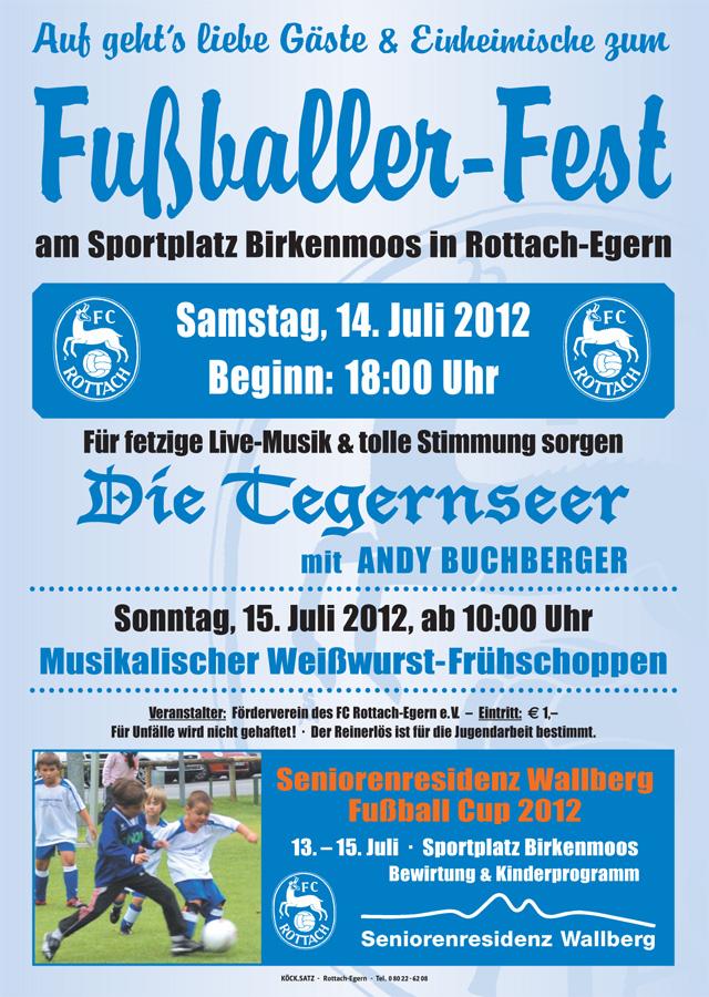 Fußballer-Fest am Sportplatz Birkenmoos Rottach-Egern