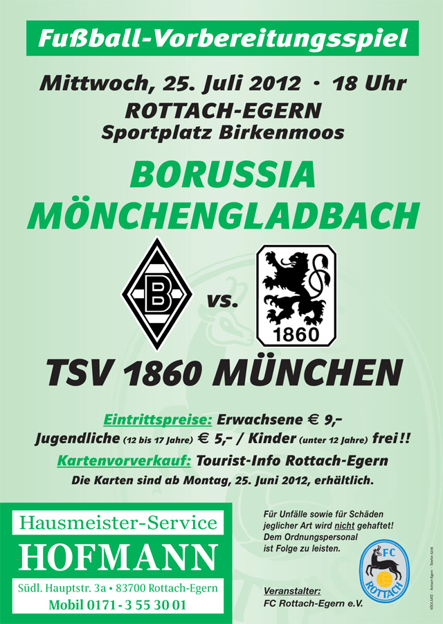 Borussia Mönchengladbach vs. TSV 1860 München