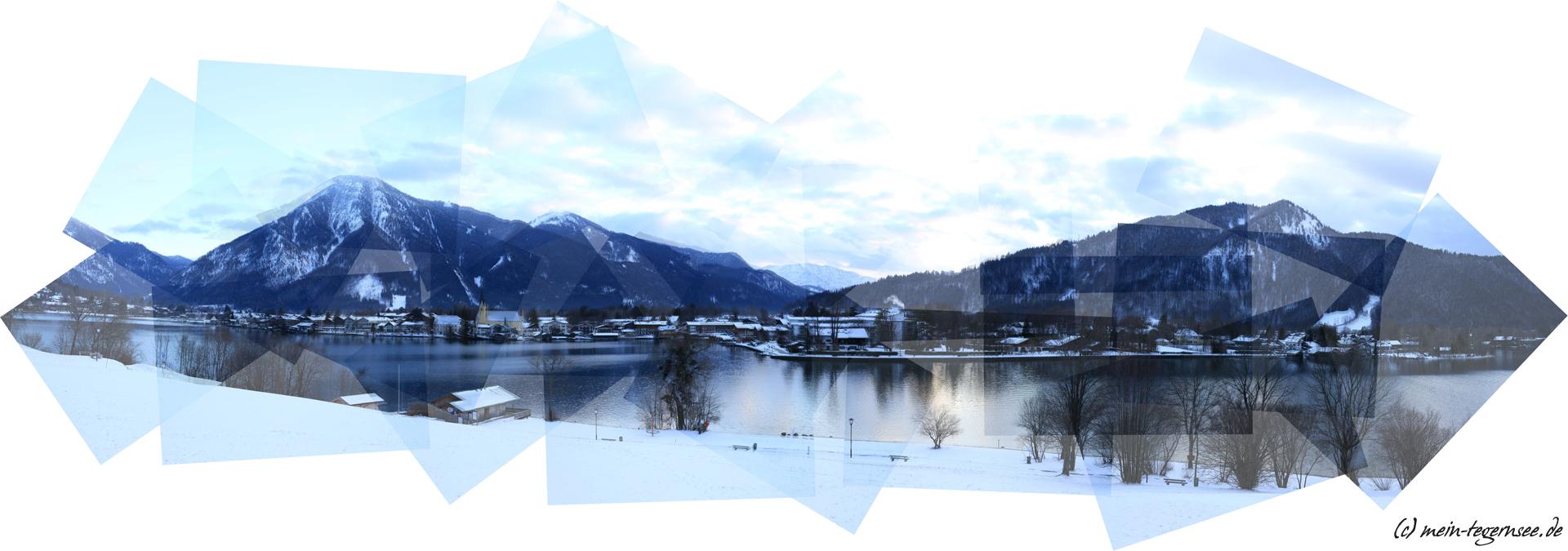 Panografie-Collage der Egerner Bucht am Tegernsee