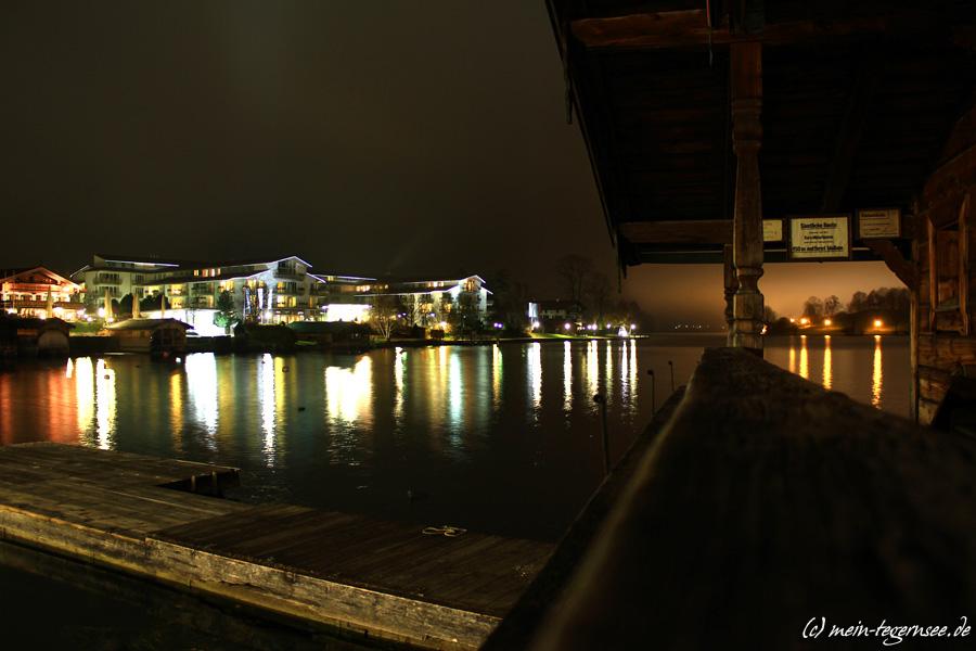 Seehotel Überfahrt Rottach-Egern bei Nacht