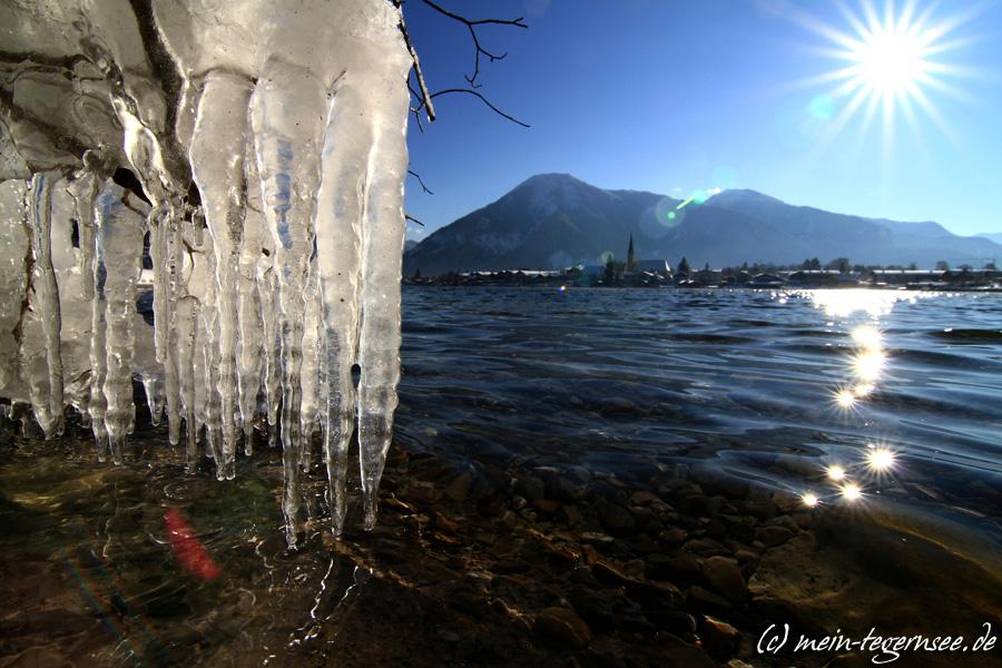 Eiszapfen und die Egerner Bucht (1)
