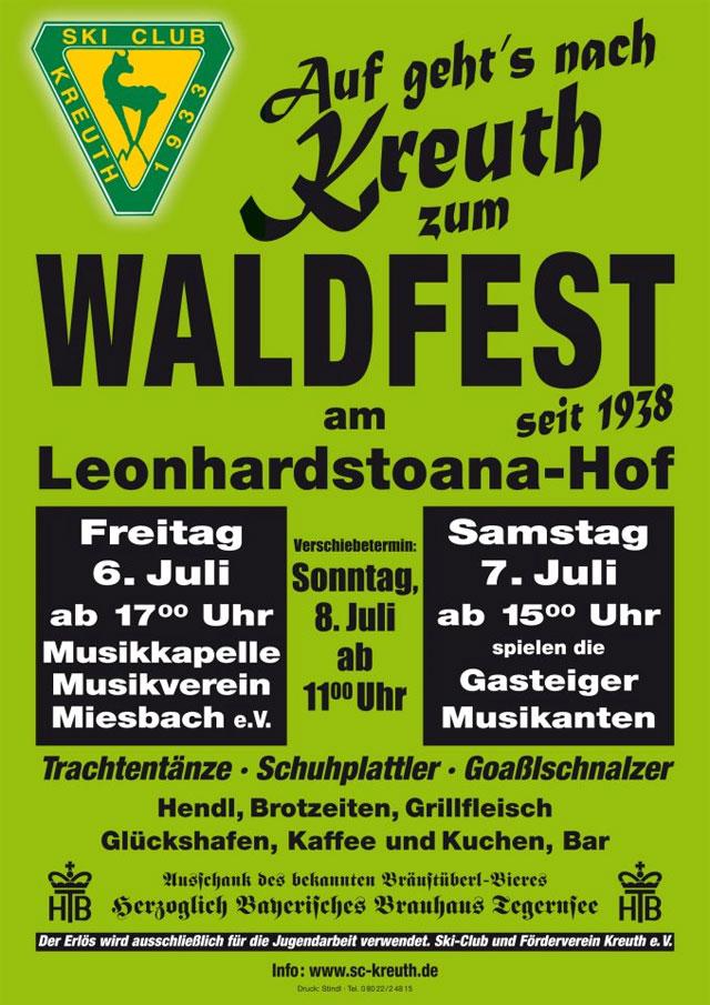 Waldfest Skiclub Kreuth